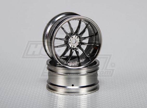 1:10 Scale Wheel Set (2pcs) Split 6-Spoke RC Car 26mm (3mm offset)