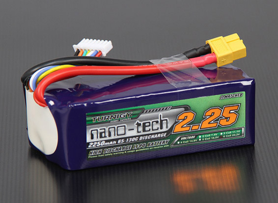 Turnigy nano-tech 2250mah 6S 65~130C Lipo Pack