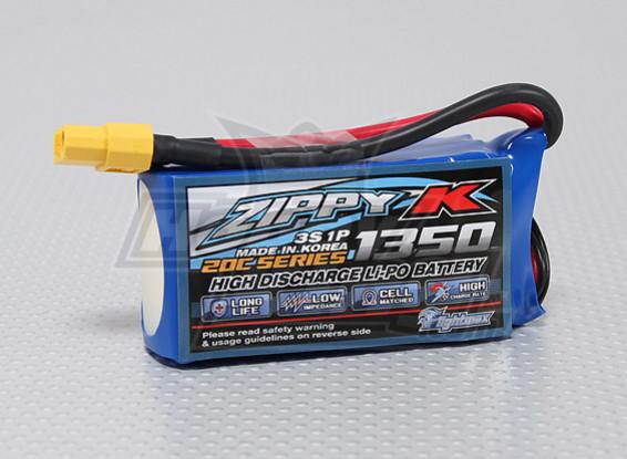 Zippy-K Flightmax 1350mah 3S1P 20C Lipoly Battery