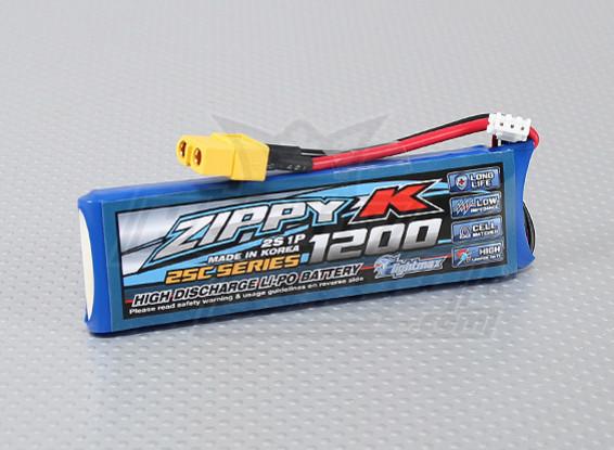 Zippy-K Flightmax 1200mah 2S1P 25C Lipoly Battery