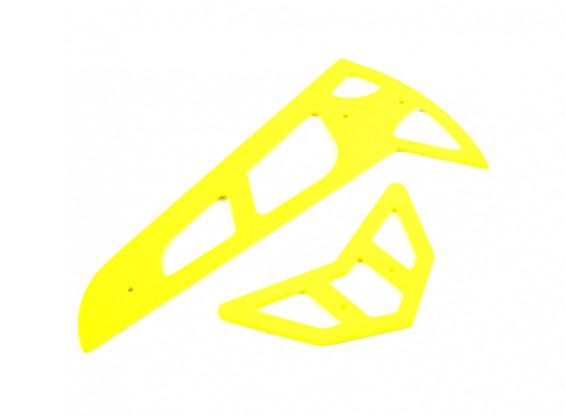 Neon Yellow Fiberglass Horizontal/Vertical Fins Trex 600
