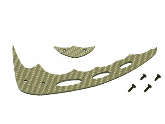 Gaui 100 & 200 Size CF Fin Silver & Tail C-Type (203605)
