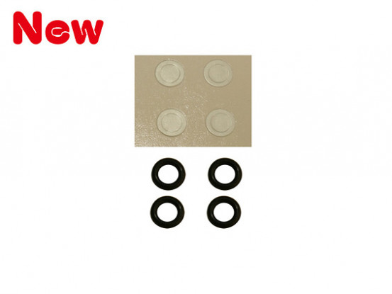 Gaui 100 & 200 Size O Ring Hardness-90 and Paper washer for 3mm Main Rotor Spindle (203848)