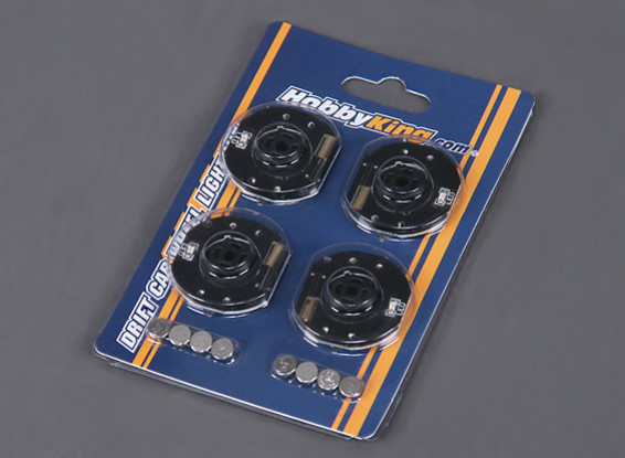 LED Wheel Lights for RC Drift Car - Orange (4pcs)