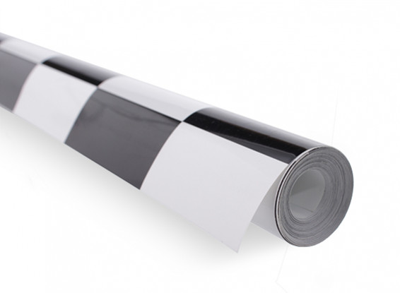 Covering Film Large Pattern Grill-Work Black/White (5mtr)