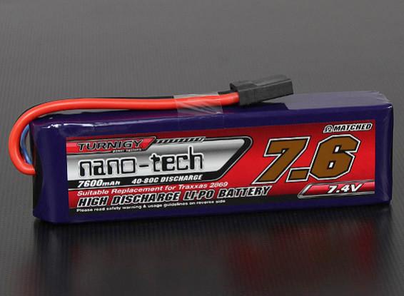 Turnigy nano-tech 7600mah 2S 40~80C Lipo Pack (Summit/E-Revo/E-Maxx Compatible )