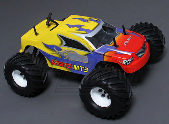 1/10 MG10 MT3 4WD .18 Nitro Monster Truck - Yellow (ARR)