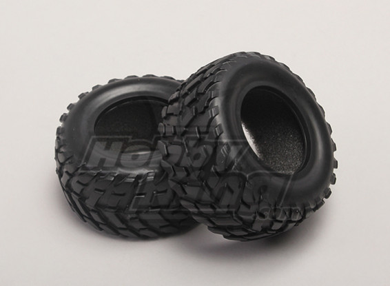 Tires w/Foam Inserts (2pcs/bag) - 1/18 4WD RTR Short Course Truck
