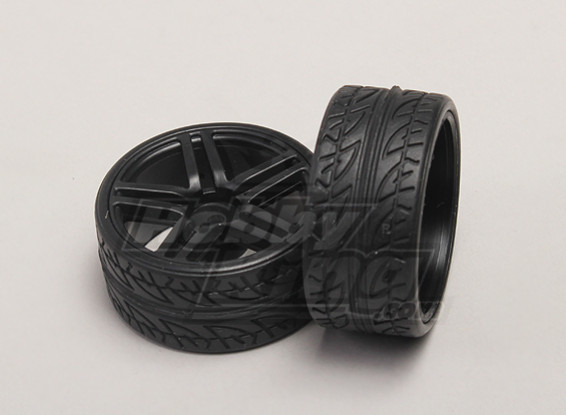 Wheels/Tires (2pcs/bag) - 1/18 4WD RTR On-Road Drift Car