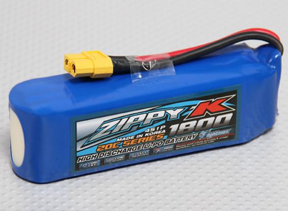 Zippy-K Flightmax 1800mah 4S1P 20C Lipoly Battery