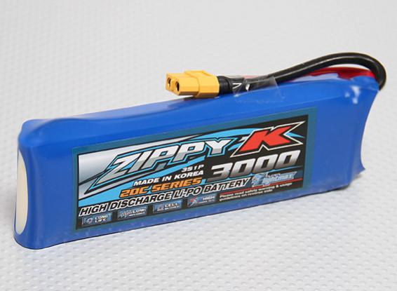 Zippy-K Flightmax 3000mah 3S1P 20C Lipoly Battery