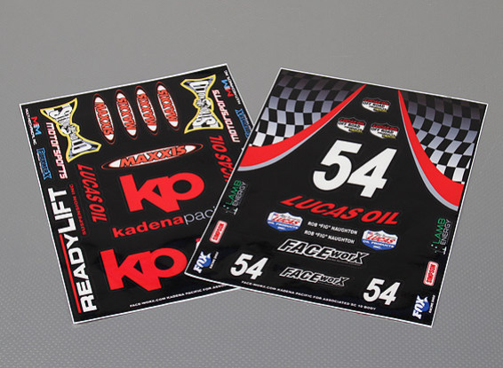 Self Self Adhesive Decal Sheet - SC10 and Slash Graphic 1/10 Scale