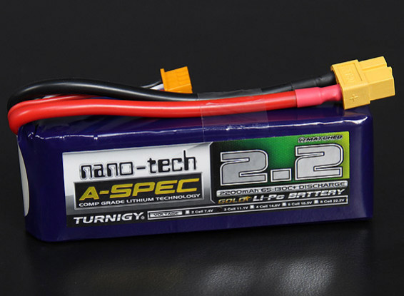 Turnigy nano-tech A-SPEC 2200mah 3S 65~130C Lipo Pack