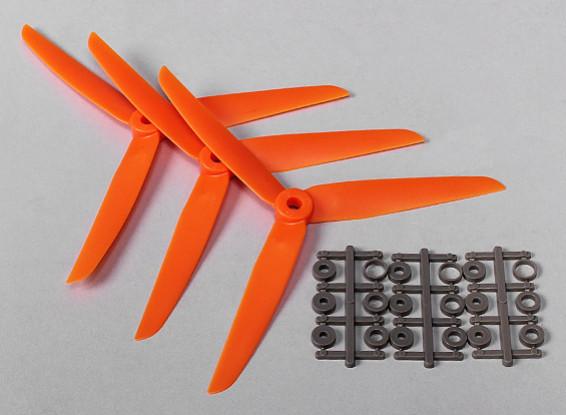 Hobbyking™ 3-Blade  Propeller 7x3.5 Orange (CCW) (3pcs)