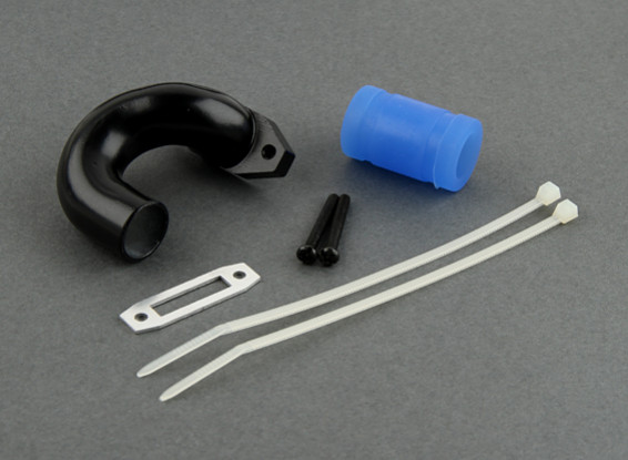 15mm Exhust Header  (Black)