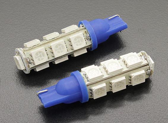 LED Corn Light 12V 2.6W (13 LED) - Blue (2pcs)