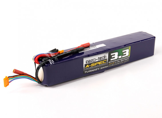 Turnigy nano-tech A-SPEC 3300mah 12S 65~130C Lipo Pack