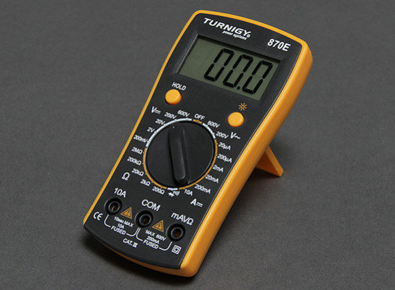 Turnigy 870E Digital Multimeter w/Backlit Display