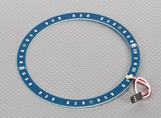 LED Ring 145mm Blue w/10 Selectable Modes