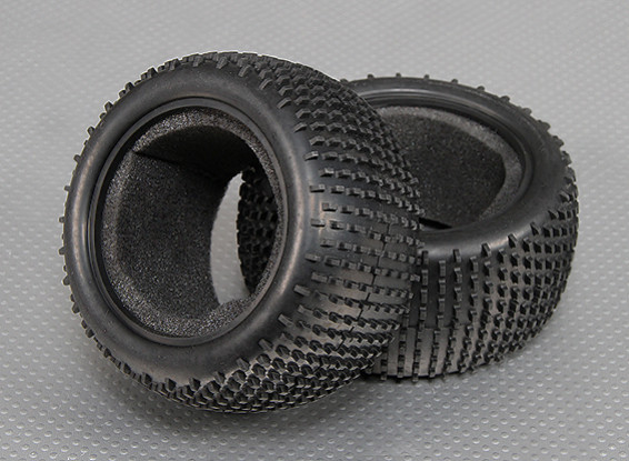 Rear Tyres w/ Sponges 1/10 Turnigy Stadium King 2WD Truggy