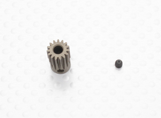 """Hard One"" 0.5M Hardened Helicopter Pinion Gear 3.5mm Shaft - 15T"