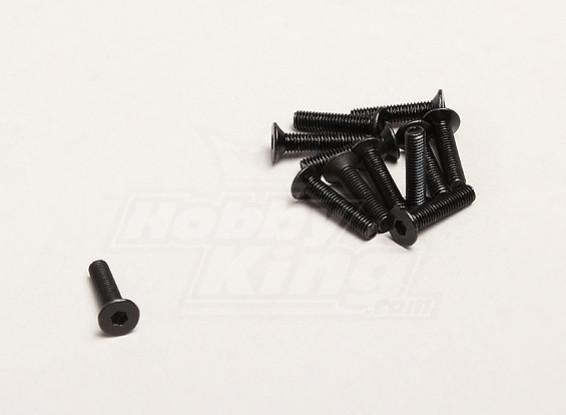 M3x14mm Flat Head Hex Screw (12pcs/bag) - Turnigy Trailblazer XB and XT 1/5