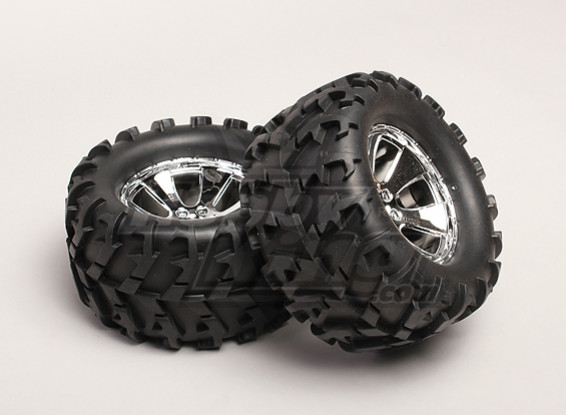 Tires and Wheels (2pcs/bag) - Turnigy Trailblazer 1/8