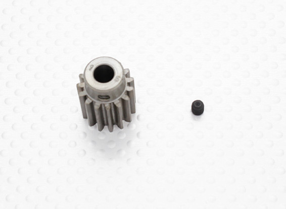 """""""Hard One"""" 1.0M Hardened Helicopter Pinion Gear 6mm Shaft - 15T"""