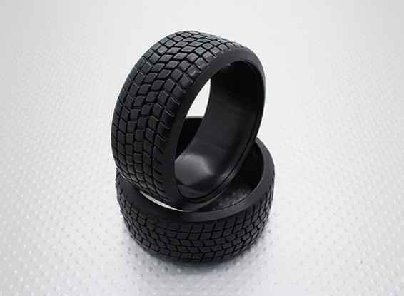 1:10 Scale Hard Plastic Compound CR-Square Drift Tires (2pcs)
