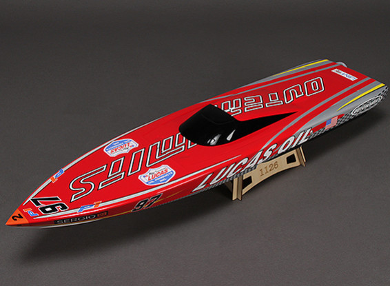 OuterLimits Fiberglass Offshore Brushless Racing Boat w/Motor (870mm)