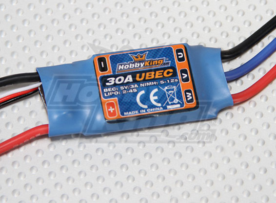 HobbyKing 30A ESC 3A UBEC