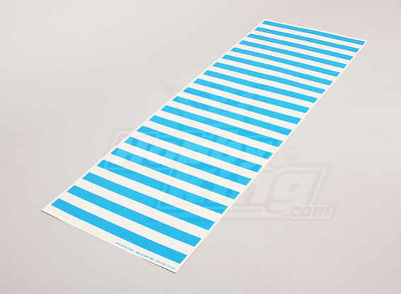 Decal Sheet Stripe Pattern Blue/Clear 590mmx200mm