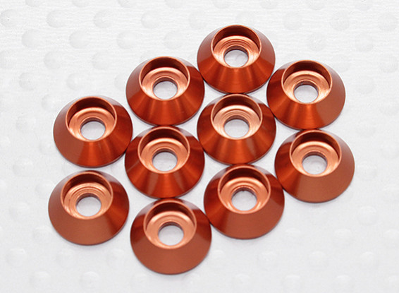 Sockethead Washer Anodised Aluminum M3 (Orange) (10pcs)