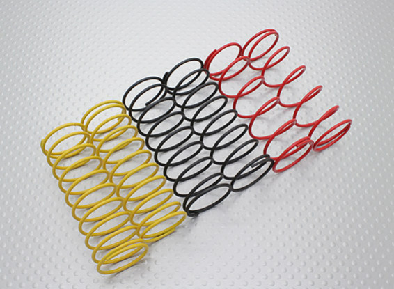 Front Shock Springs Black/Yellow/Red (2pcs each color) - A2038 & A3015