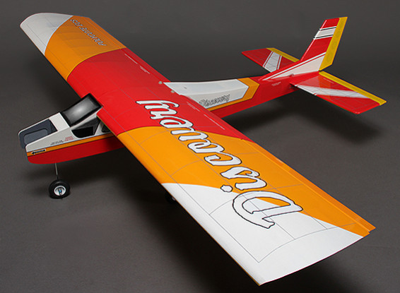 Discovery (Red) Balsa Hi-Wing Trainer Glow/EP 1620mm (ARF)