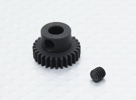 28T/5mm 48 Pitch Hardened Steel Pinion Gear