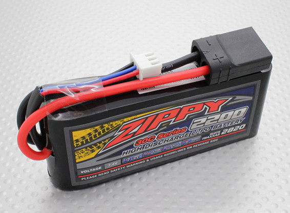 ZIPPY Traxxas compatible 2200mAh 2S1P 30C Lipo Pack (Suits TRA2820)