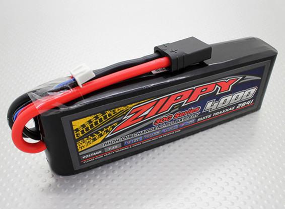 ZIPPY Traxxas compatible 4000mAh 2S1P 30C Lipo Pack (Suits TRA2841)