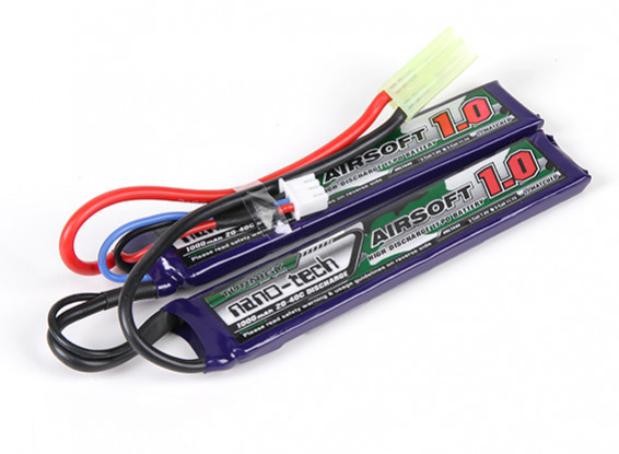 Turnigy nano-tech 1000mAh 2S 20-40C Lipo AIRSOFT Pack