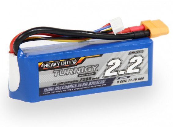 Turnigy Heavy Duty 2200mAh 3S 60C Lipo Pack