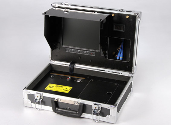 8 inch 800 x 600 FPV Ground Station with Monitor and Voltage Display Quanum