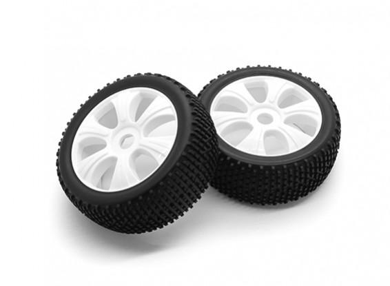 HobbyKing 1/8 Scale K Spec Y-Spoke Wheel/Tire 17mm Hex (White)