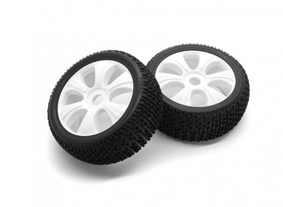 HobbyKing 1/8 Scale T Block Y Spoke Wheel/Tire 17mm Hex (White)