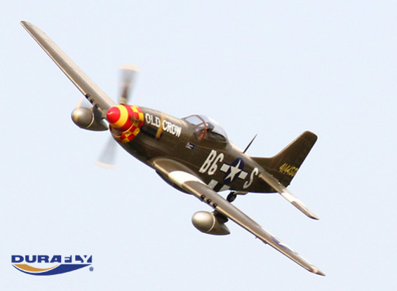 Durafly™ 'Old Crow' P-51D Mustang w/Flaps/Retracts/Lights 1100mm (PNF)