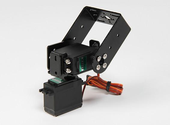 Heavy Duty Pan and Tilt Base Kit with 160deg Servos Robotic Limb or Antenna Tracking (Long Arm)