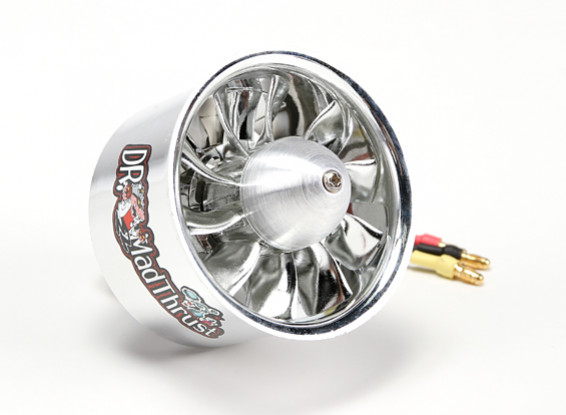 Dr. Mad Thrust 64mm 10 Blade EDF Electroplated Version 4000kv/4S