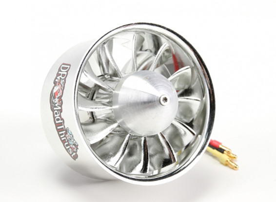 Dr. Mad Thrust 80mm 12 Blade EDF Electroplated Version 1600kv/6S