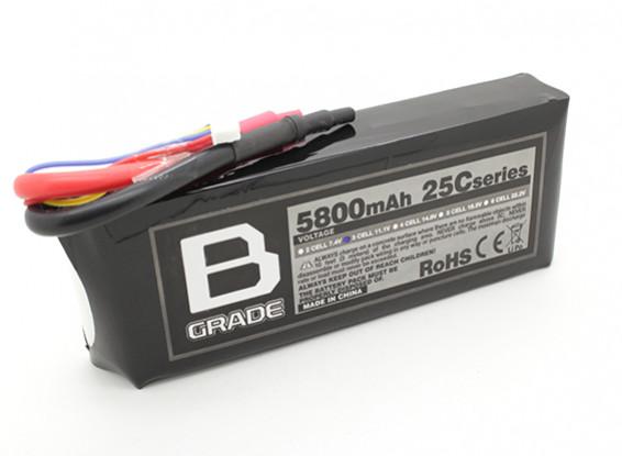 B-Grade 5800mAh 3S 25C Lipoly Battery