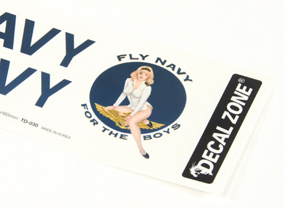 Nose Art - For The Boys 250 x 85mm Self Adhesive Decal Set