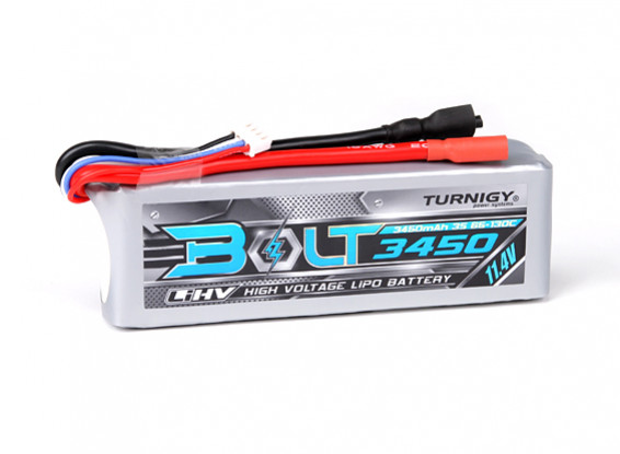 Turnigy Bolt 3450mAh 3S 11.4V 65~130C High Voltage Lipoly Pack (LiHV)